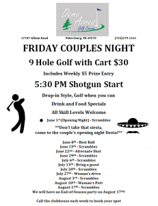 2018 Couples Night Flyer